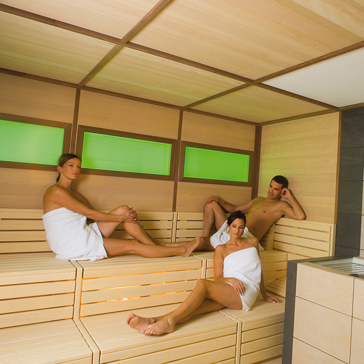 Bio-sauna with light therapy and aromatherapy
